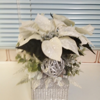 Christmas silver flower ornament