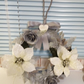 Christmas silver wreath