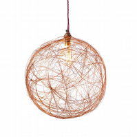 Copper Wire Ceiling Light Bespoke Light Shade