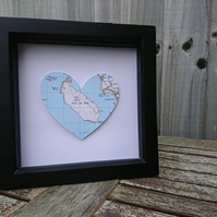 Valentine Map Heart