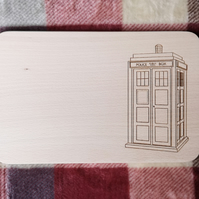 "Chopping Board 19cm ""In the style of - ""Tardis"""