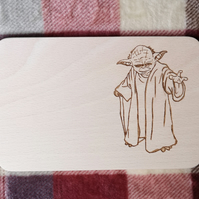 "Chopping Board 19cm ""In the style of - ""Yoda"""