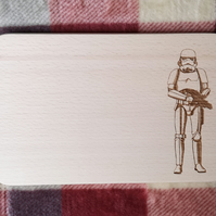 "Chopping Board 19cm ""In the style of - ""Storm Trooper"""