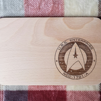 "Chopping Board 19cm ""In the style of - Enterprise Emblem"""