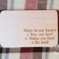"Chopping Board 19cm ""Ways to my Heart"""