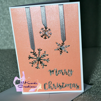 Christmas card  Snowflakes