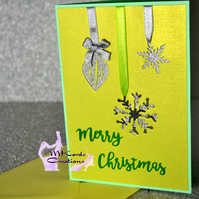 Christmas card Bouble and Snowflakes