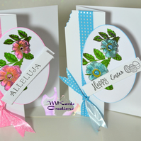 Easter Card bows and flowers