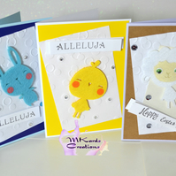 Easter Card easter bunny easter chick easter lamb
