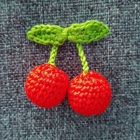 Retro Cherry Brooch