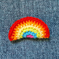 Rainbow Pride Brooch - Lime and Pink