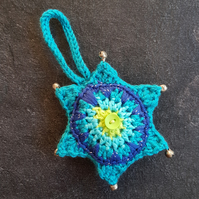 Blue Star Bauble