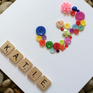Age 3 - 3rd  Personalised Luxury Handmade Birthday Button Card
