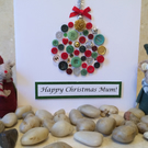 Personalised Bauble Christmas Card - Named Luxury Christmas Card Handmade