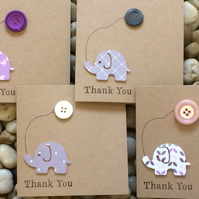 Handmade Thank You Cards For Girl, Pack of 4, More designs available, see photos