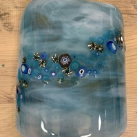 Fused glass light catcher