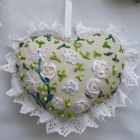 Hand crafted Embroidered heart