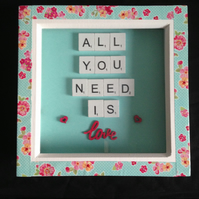 All you need is love scrabble picture.