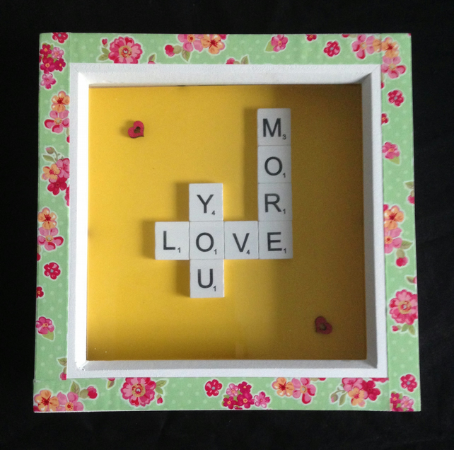 Love you more scrabble picture.