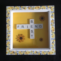 Best friend scrabble,Sunflower picture.