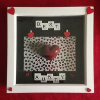 Best Aunty scrabble photo frame,With wooden details.
