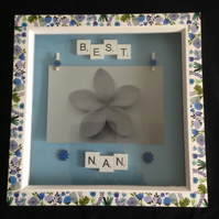 Best Nan scrabble flower photo frame.