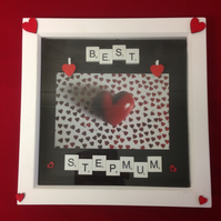 Best Stepmum scrabble 3D photo frame.