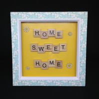 Home, Sweet, Home scrabble picture.