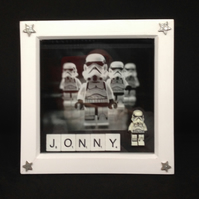 Personlised scrabble letters Star Wars 3D picture.