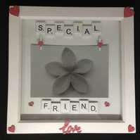 Special friend, scrabble photo frame.