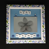 Best Stepmum scrabble photo frame.