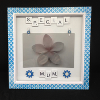 Special Mum, scrabble photo frame.