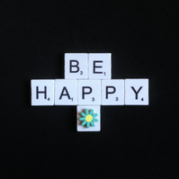 Be happy scrabble magnet.