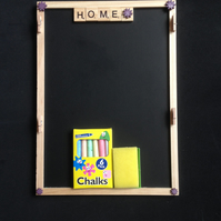 Home, scrabble blackboard wall organiser.