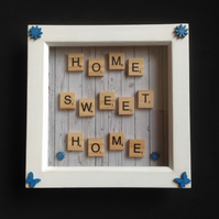 Home,Sweet,Home scrabble 3D picture.