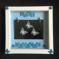 Best friends scrabble photo frame.