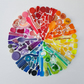 Large colour wheel made from plastic collected from beautiful Cornish beaches