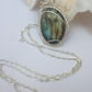Wirework Labradorite Gemstone Necklace Silver plated Necklace