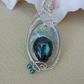 Wire wrapped Labradorite necklace Teal and Silver Necklace Gift