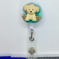 ID Badge Holder Dog Clipboard Pen Holder keys Retractable Fun Gift