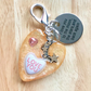 Love you Heart Keyring Moon and stars and back again Key ring Bag charm gift