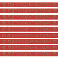 1 Meter of Pre-Printed Ribbon with a Merry Christmas Design