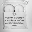 White Baby Shower Party Favours