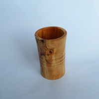 Handmade Ornamental Hardwood Yew Trinket Pot