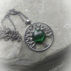 Green Goddess Dichroic Glass Tree of Life Necklace