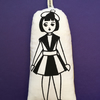 Hand Screen Printed Polish Doll Lavender Bag With 1960's Daisy Fabric
