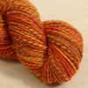 Fire Eater - hand spun Merino and Angelina yarn, 105g, 165m, DK 3 ply