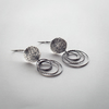 Sterling Silver Textured Circles Earrings