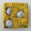 Square Coastal inspired Textile Mini Art in Mustard Yellow