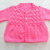 Girl's Hand Knitted Aran Weight Cable and Bobble Cardigan, Gift Ideas for Girls